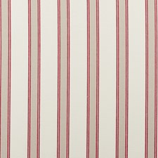 Red Stripe Decorator Fabric by Clarke & Clarke