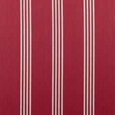 Red Stripes Decorator Fabric by Clarke & Clarke