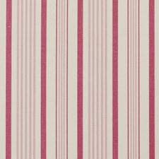 Raspberry Stripes Decorator Fabric by Clarke & Clarke