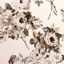 Natural Floral Large Decorator Fabric by Clarke & Clarke