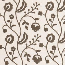 Grey Crewel Decorator Fabric by Clarke & Clarke