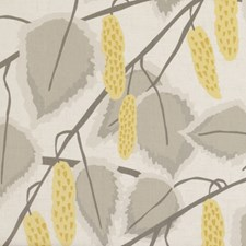 Chartreuse Leaf Decorator Fabric by Clarke & Clarke