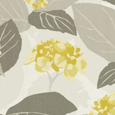 Chartreuse Floral Large Decorator Fabric by Clarke & Clarke