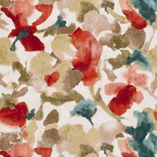 Teal Floral Medium Decorator Fabric by Clarke & Clarke