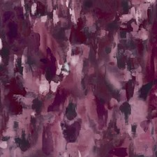 Damson Abstract Decorator Fabric by Clarke & Clarke