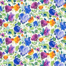Violet Floral Large Decorator Fabric by Clarke & Clarke