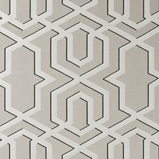 Stone Geometric Decorator Fabric by Clarke & Clarke