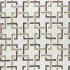 Orchid/Willow Weave Decorator Fabric by Clarke & Clarke