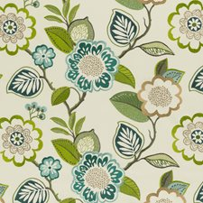 Aqua/Citron Weave Decorator Fabric by Clarke & Clarke