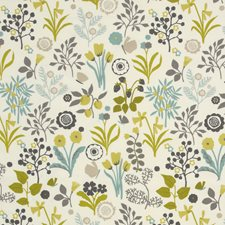 Charteuse/Charcoal Decorator Fabric by Clarke & Clarke