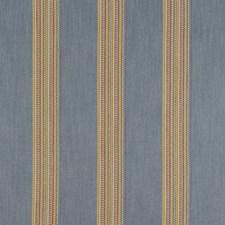 Denim/Rouge Stripes Decorator Fabric by Clarke & Clarke