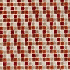 Spice Geometric Decorator Fabric by Clarke & Clarke