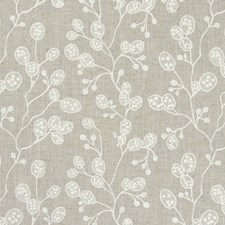 Linen Embroidery Decorator Fabric by Clarke & Clarke