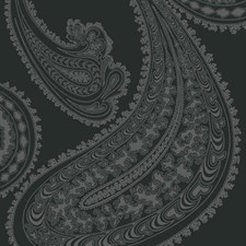 Char Blk Paisley Decorator Fabric by Cole & Son