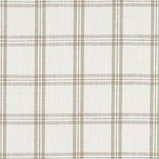 Natural Plaid Decorator Fabric by Clarke & Clarke