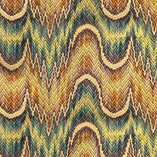 Brown/Green/Gold Decorator Fabric by Scalamandre