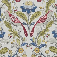 Birds Rouge Decorator Fabric by Clarke & Clarke