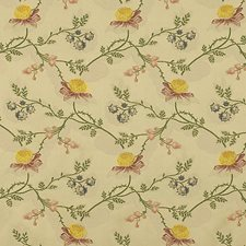 Multi On Beige Decorator Fabric by Scalamandre