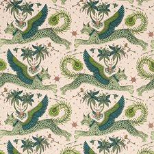 Pink Animal Decorator Fabric by Clarke & Clarke