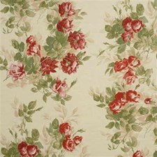 Pink/Green Silk Decorator Fabric by Mulberry Home