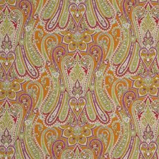 Paprika/Leaf Print Decorator Fabric by Mulberry Home