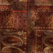 Red/Plum Print Decorator Fabric by Mulberry Home