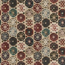 Plum Ethnic Decorator Fabric by Mulberry Home