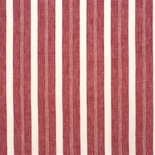 Red Stripes Decorator Fabric by Mulberry Home