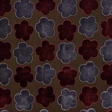 Rd/Mauv Botanical Decorator Fabric by Mulberry Home