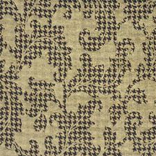 Beige/Chocolate/Tan Damask Decorator Fabric by Mulberry Home