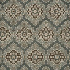Teal/Bronze Jacquards Decorator Fabric by Mulberry Home