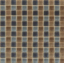 Teal/Bronze Geometric Decorator Fabric by Mulberry Home