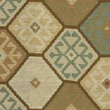 Teal/Bronze Ikat Decorator Fabric by Mulberry Home