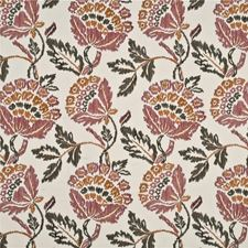 Magenta Embroidery Decorator Fabric by Mulberry Home