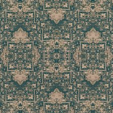 Teal Ethnic Decorator Fabric by Mulberry Home