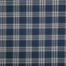 Indigo Check Decorator Fabric by Pindler