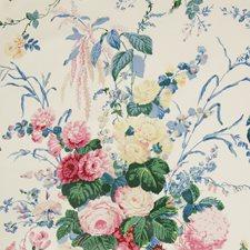 White Botanical Decorator Fabric by Lee Jofa