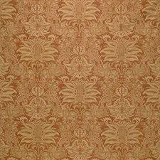 Rust/Yellow Print Decorator Fabric by Kravet