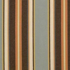 Brown/Rust/Light Blue Stripes Decorator Fabric by Kravet