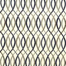 Beige/Midnight Modern Decorator Fabric by Groundworks