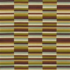 Plum/Aqua Modern Decorator Fabric by Groundworks