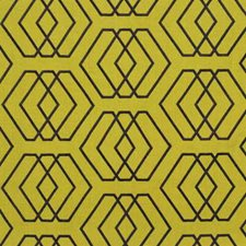 Celery Geometric Decorator Fabric by Groundworks