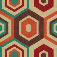 Mulberry Geometric Decorator Fabric by Groundworks