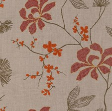 Ruby Embroidery Decorator Fabric by Groundworks