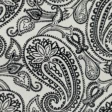 Jet Paisley Decorator Fabric by Groundworks