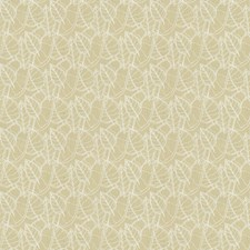 White Botanical Decorator Fabric by Groundworks