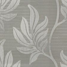 Grey Botanical Decorator Fabric by Groundworks