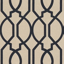 Navy Lattice Decorator Fabric by Groundworks