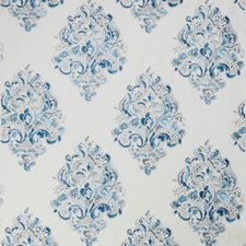 Blues Damask Decorator Fabric by Groundworks