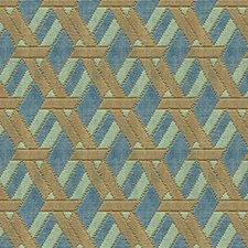 Aqua/Taupe Contemporary Decorator Fabric by Groundworks
